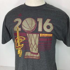 Adidas Gray Cleveland Cavaliers NBA Champions Tee